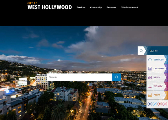 City of West Hollywood Website
